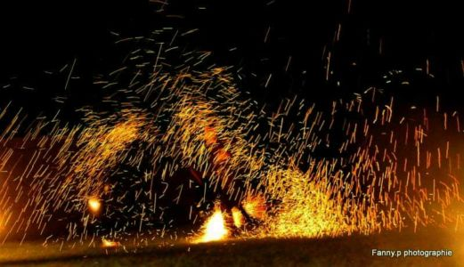 Le Peuple du Feu - Normandie - Spectacle - jonglerie - bolas de feu - effet